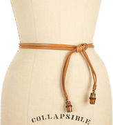 Leather Bamboo Belt - Brown