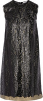 Tomas Maier Layered metallic coated cotton-lace dress