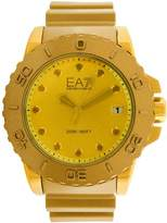 Emporio Armani Men's Sportivo AR6084 Gold Rubber Analog Quartz Fashion Watch