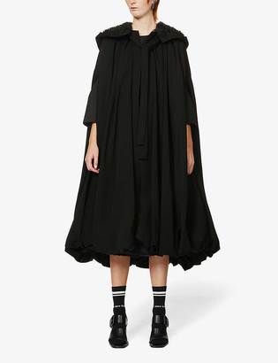 Comme des Garcons Puffed hooded wool cape