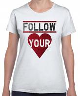 White 'Follow Your Heart' Crewneck Tee - Plus Too