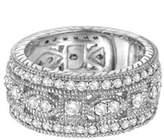 Pompeii3 2 1/2ct Vintage Diamond 3/4 Eternity Wedding Ring 14k White Gold.