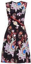Mary Katrantzou Masson Urdu paisley-print silk dress
