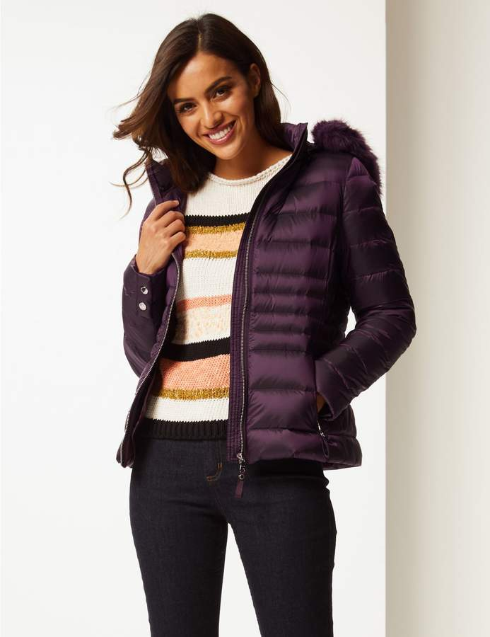 Marks and Spencer Padded Down & Feather Jacket with Stormwear