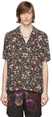 Dries Van Noten Burgundy Floral Pocket Shirt