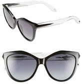 Givenchy Women's 55Mm Retro Sunglasses - Black Crystal