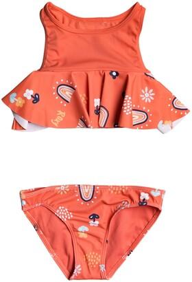 Roxy Kids' Rainbow Two-Piece Swimsuit