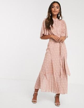 Keepsake passion polkadot midi dress-Pink