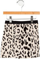 Milly Minis Leopard Print Skirt