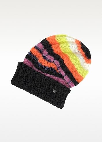John Galliano Striped Wool Hat