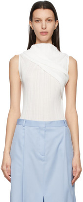 Nina Ricci White Off-The-Shoulder Tank Top