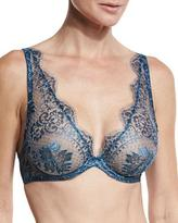 I.D. Sarrieri Nuits a Marrakesh Underwire Triangle Bra, Metal Sapphire
