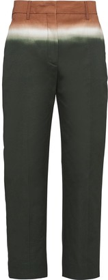 Prada Three-Tone Cropped Trousers
