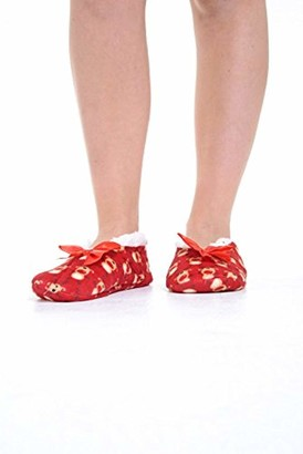 Adam & Eesa Womens Co Zees Slippers Christmas Fleece Lined Slipper Socks Gripper Soles - 4 Designs - UK 4-7