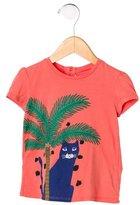Little Marc Jacobs Girls' Cat Print Short Sleeve Top