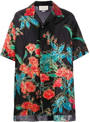 Gucci floral print oversized shirt