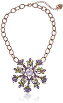 "Betsey Johnson Spring Fling"" Mixed Faceted Round Necklace"