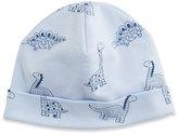 Kissy Kissy Dino Daze Printed Pima Baby Hat, Blue, Size Newborn-Small