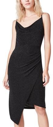 Steve Madden Asymmetrical Dress Black Silver