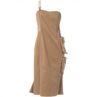 Gianfranco Ferre Gf Beige Synthetic Dresses
