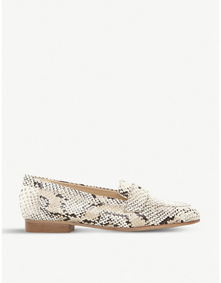 Dune Gantt DB reptile print leather loafers