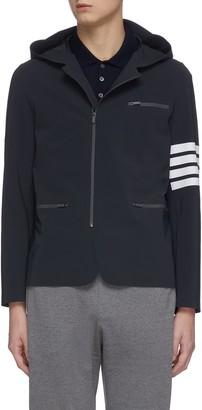 Thom Browne Four-bar stripe compression hood jacket