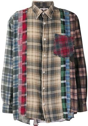Needles Check Print Patchwork Shirt