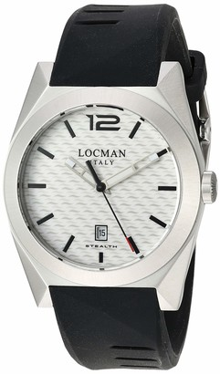 Locman Analog Quartz Watch with Stainless Steel Strap Clear 22 (Model: 4573282437636)