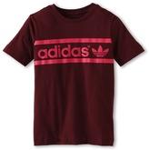 adidas Kids - Kids' Heritage Logo Tee (Toddler/Little Kids/Big Kids) (Light Maroon/Blast Pink) - Apparel