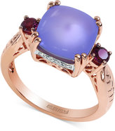 Effy Purple Chalcedony, Rhodolite Garnet and Diamond Accent Ring in 14k Rose Gold (4-1/4 ct. t.w.)