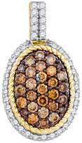 KATARINA and White Diamond Fashion Pendant with Chain in 10K Yellow Gold (1 cttw)