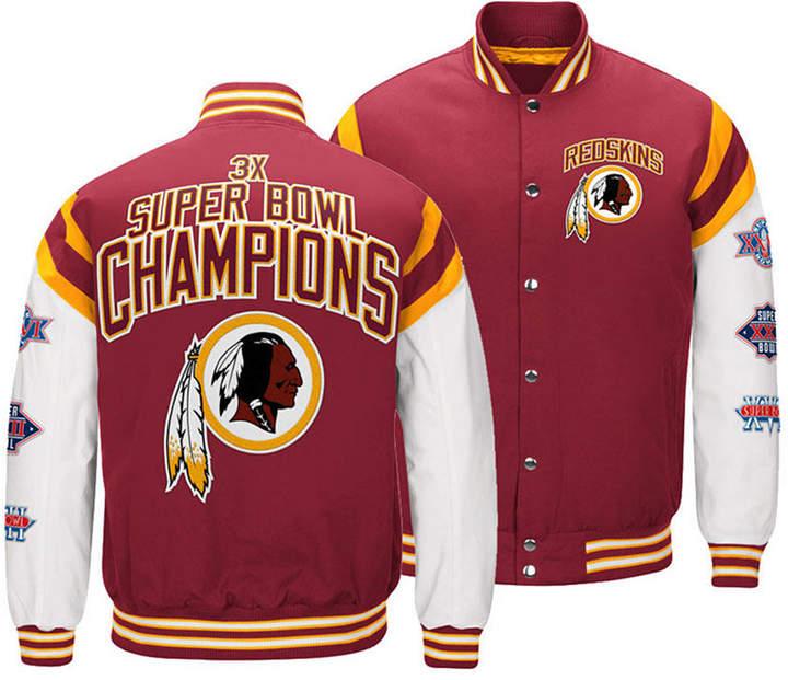 Authentic Nfl Apparel Men Washington Redskins Home Team Varsity Jacket