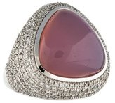 Di Modolo 18K Rose Quartz & Diamond Triadara Ring