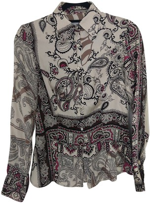 Trussardi Beige Silk Top for Women