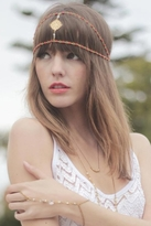 Hard Couture Gypsy Rose Headpiece in Gold