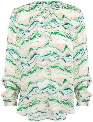 Primrose Park London Sandy Open Shirt In Wave