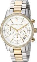 Michael Kors Women's 'Ritz' Quartz Stainless Steel Casual Watch, Color:Silver-Toned (Model: MK6474)