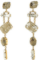 Erickson Beamon Crystal Mesh Drop Earrings