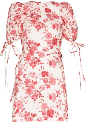 The Vampire's Wife The Wrapsody floral-print dress