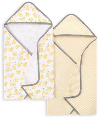 Burt's Bees Little Ducks Organic Baby Hooded Towels 2 Pack