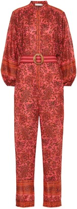 Zimmermann Edie floral cotton jumpsuit