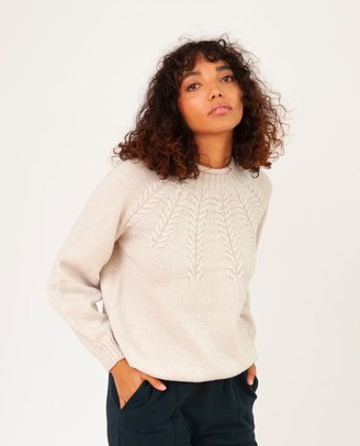 Beaumont Organic Sukey Superfine Lambswool Jumper In Swansdown - Swansdown / Extra Small
