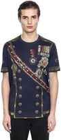 Dolce & Gabbana Military Print Cotton Jersey T-Shirt