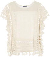 Tart Collections Caris metallic crochet-knit top