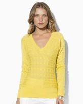 Lauren Ralph Lauren V Neck Dolman Sweater