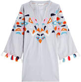 Nina Kaufmann Embroidered Cotton Tunic with Tassels