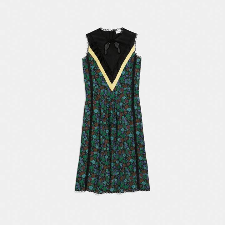Coach Daisy Print Sleeveless Varsity Dress