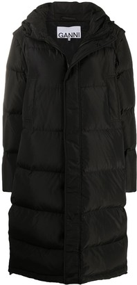Ganni Detachable Sleeves Quilted Puffer Coat