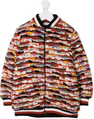 Missoni Kids Chunky-Knit Bomber Jacket