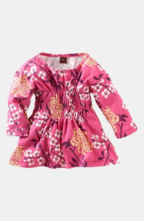 Tea Collection 'Branch Blossom' Three Quarter Sleeve Top (Little Girls & Big Girls)